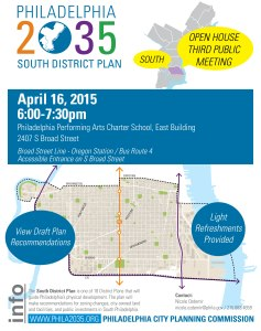 Philadelphia2035 South District planning meeting - April 16, 2015