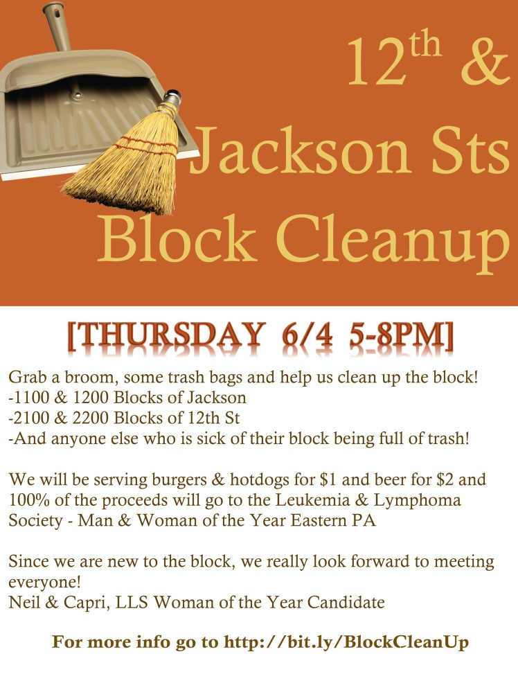 Jackson St Block Cleanup Flyer