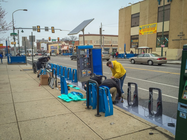 Philly bike share station