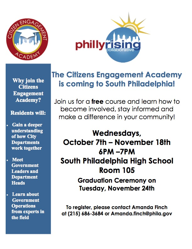 South Philadelphia CEA hand out