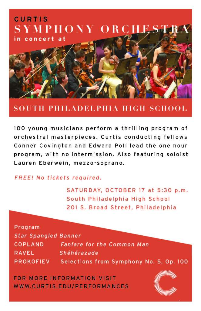 SPHS Curtis Concert Flyer