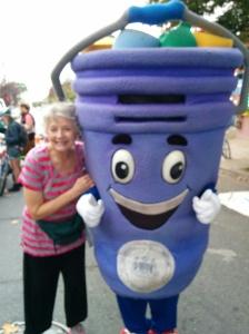 LoMo member Fran Larosa with Curby Bucket